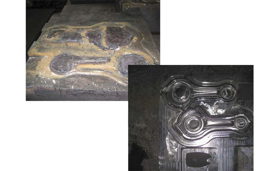 Forging Die Weld-Repaired with Postalloy 2235