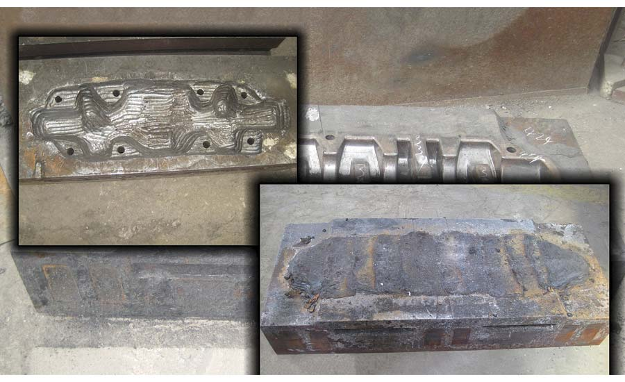 Crankshaft Forging Die Gouged and Repaired Weld