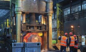 10,000-ton Open-die Forging Press in Operation