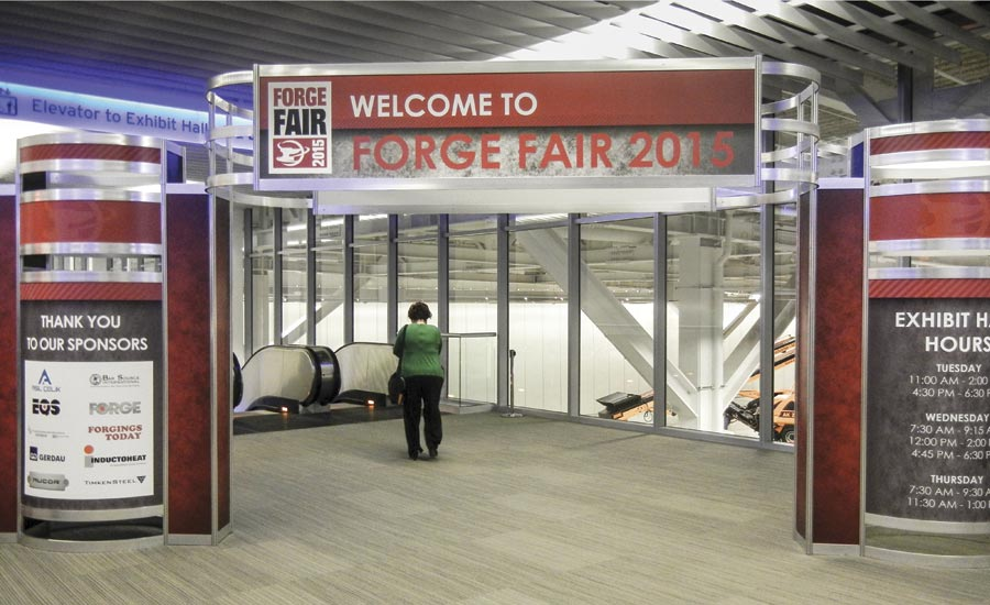 Forge Fair 2015 entry to the exhibit area