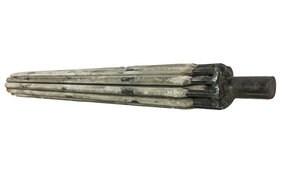 The Pack Rod electrode improved metal deposition rates