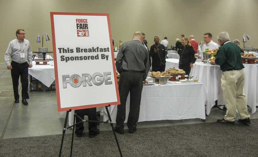 FORGE magazine sponsored breakfast the second morning of Forge Fair