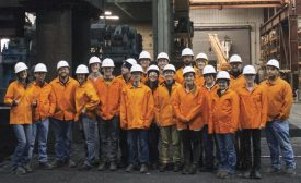 Undergraduate and graduate students from Colorado School of Mines visiting Finkl Steel