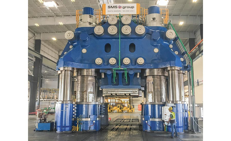 Weber Metals' New 60,000-Ton Hydraulic Press | 2018-12-10