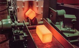 Induction-heated steel billets