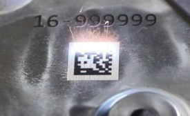 Forged Aluminum Part with Laser Marking