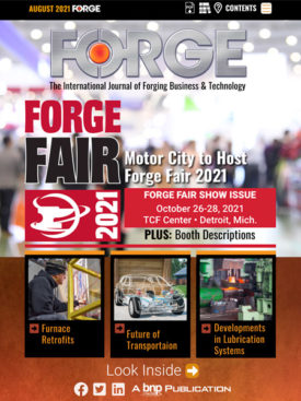 FORGE August 2021 Cover
