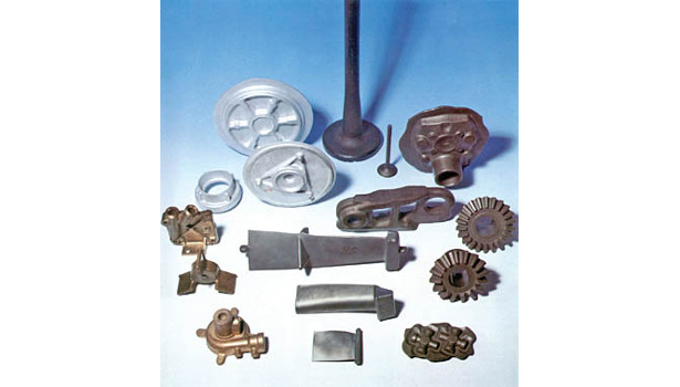 Typical hot-forged parts produced on a screw press