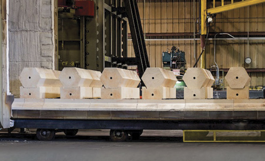 Forging and heat-treating furnaces are prime examples of applications in which improved quality can be achieved through the use of precast refractory shapes