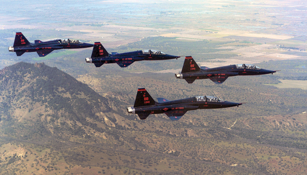 Four T-38A Talons Fly Over