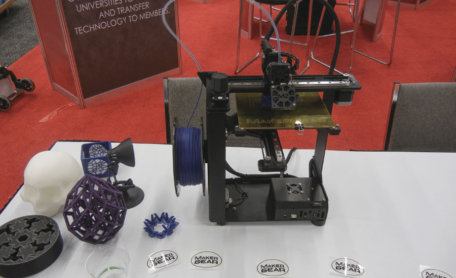 The FIERF exhibit demonstrated a 3D printing device