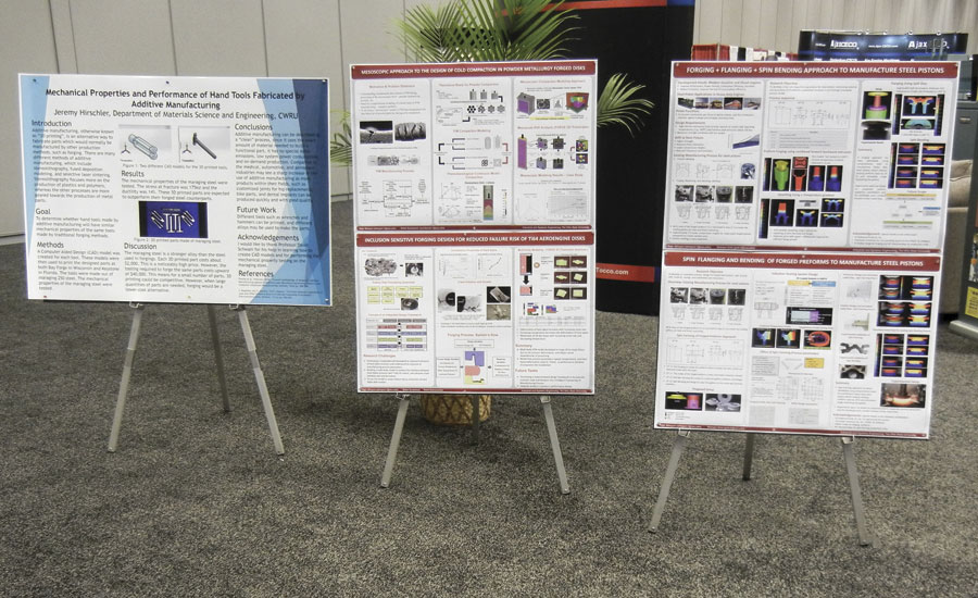 Posters describing students' research projects