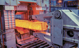 TimkenSteel forging its specialty steel billets